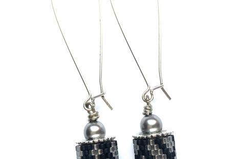Charming Channel Earring Silver