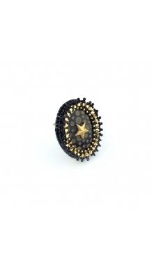 Orné de Fleurs Ring - Black
