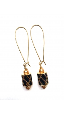 Charming Channel Earrings - Gold