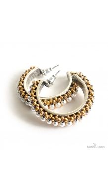 Mixed Metal & Pearl Hoops